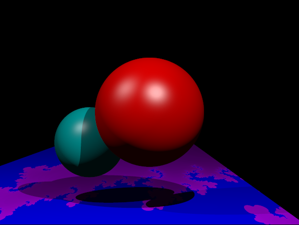 Another scene with different fractal parameters