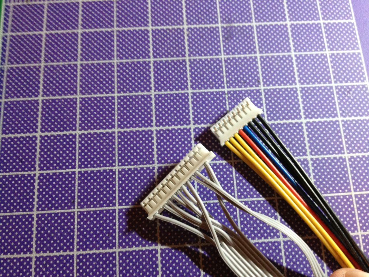 Rewire OSD cable to fit into new DVI board